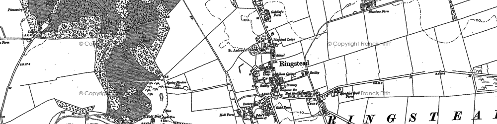 Old map of Ringstead in 1904