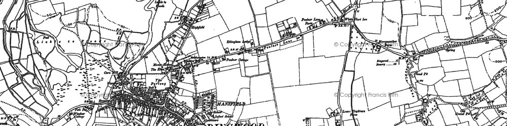 Old map of Ringwood in 1908