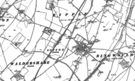 Old Map of Ringwould, 1896