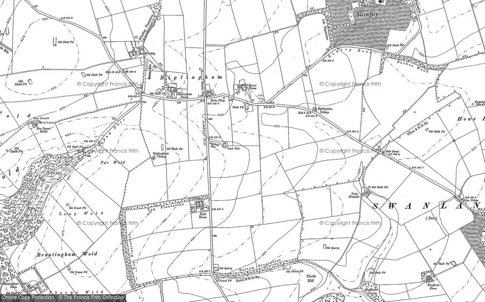 Old Map of Riplingham, 1888 in 1888