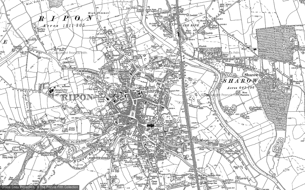 Old Maps of Ripon - Francis Frith Map Of Rilon on