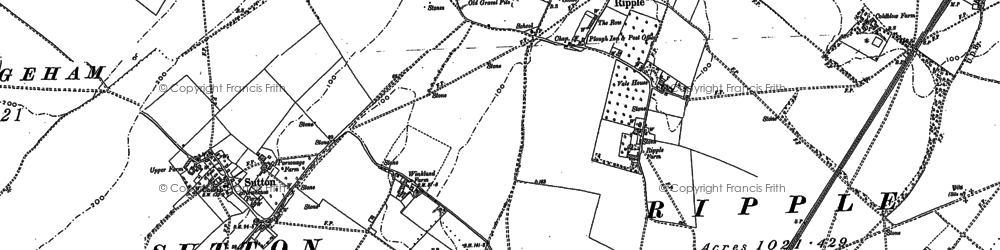 Old map of Ripple in 1896