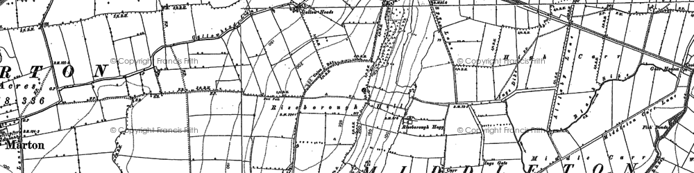 Old map of Westgate Carr in 1890