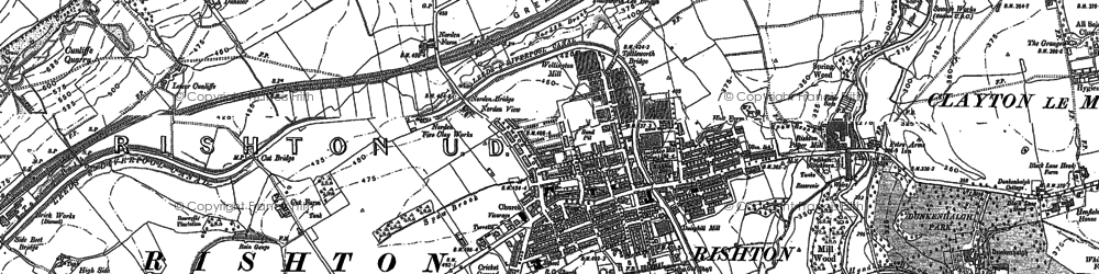 Old map of Rishton in 1891