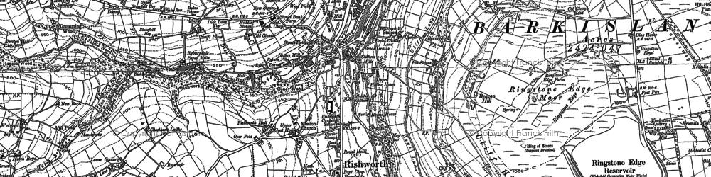 Old map of Baitings Resr in 1892