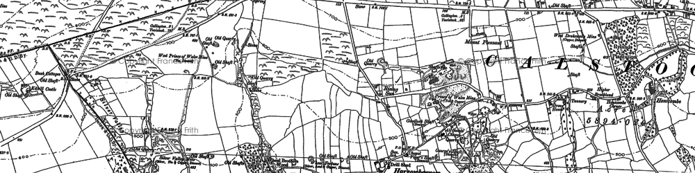 Old map of Rising Sun in 1905