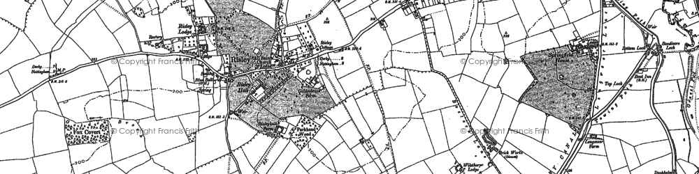 Old map of Risley in 1899