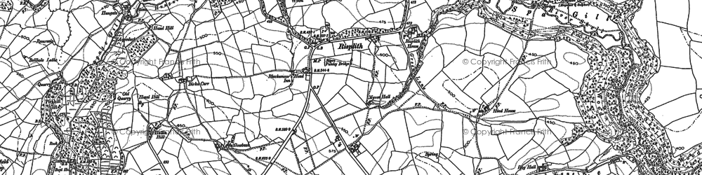 Old map of Grantley Hall in 1908