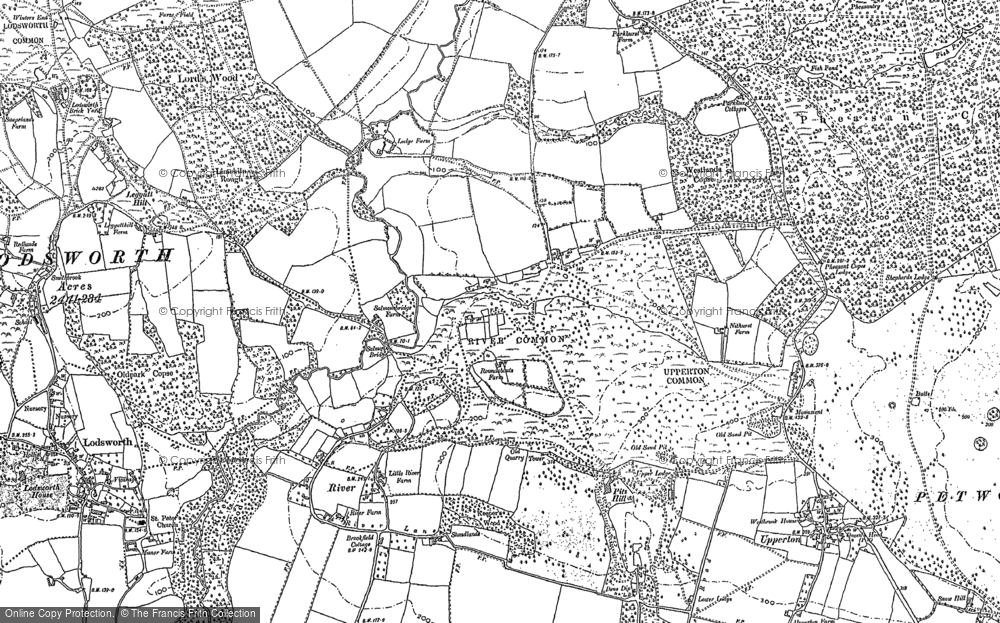 Old Map of Historic Map covering White's Green in 1895