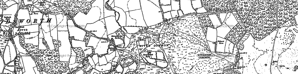 Old map of White's Green in 1895