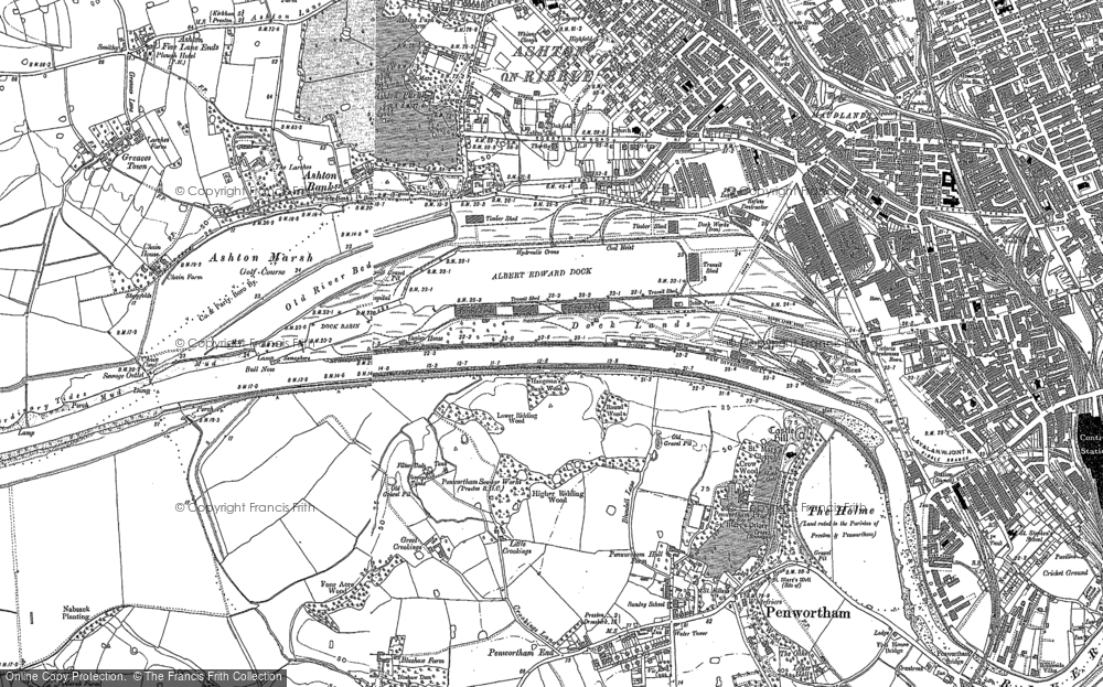 Old Map of Historic Map covering Larches in 1892