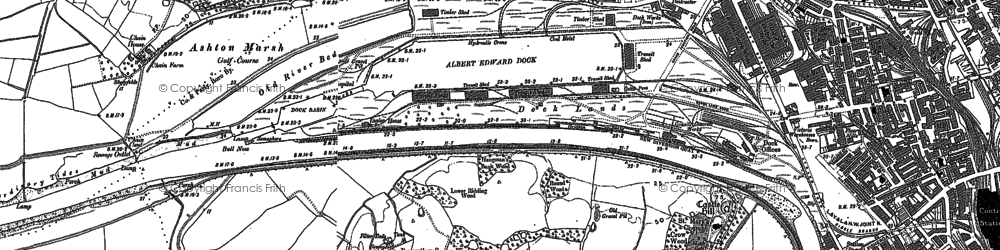 Old map of Ashton Park in 1892