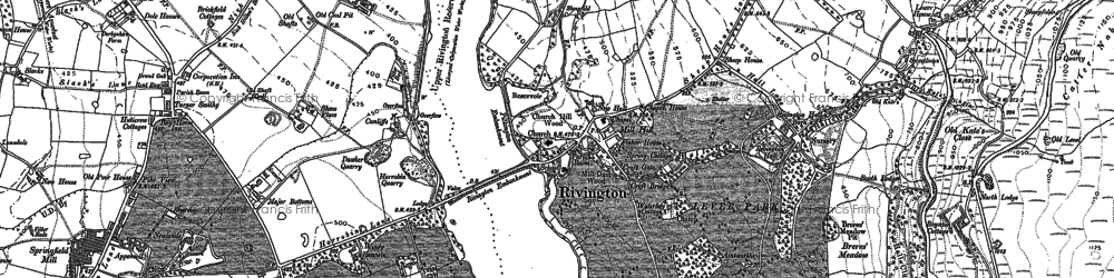 Old map of Alance Bridge in 1892
