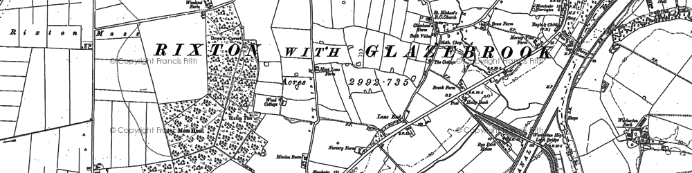 Old map of Hollinfare in 1894