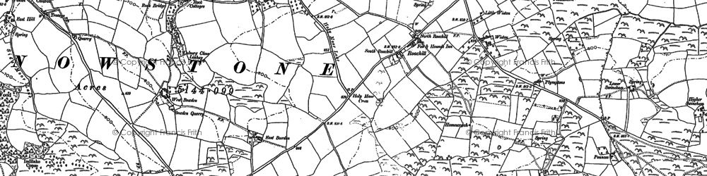 Old map of Wiston in 1903