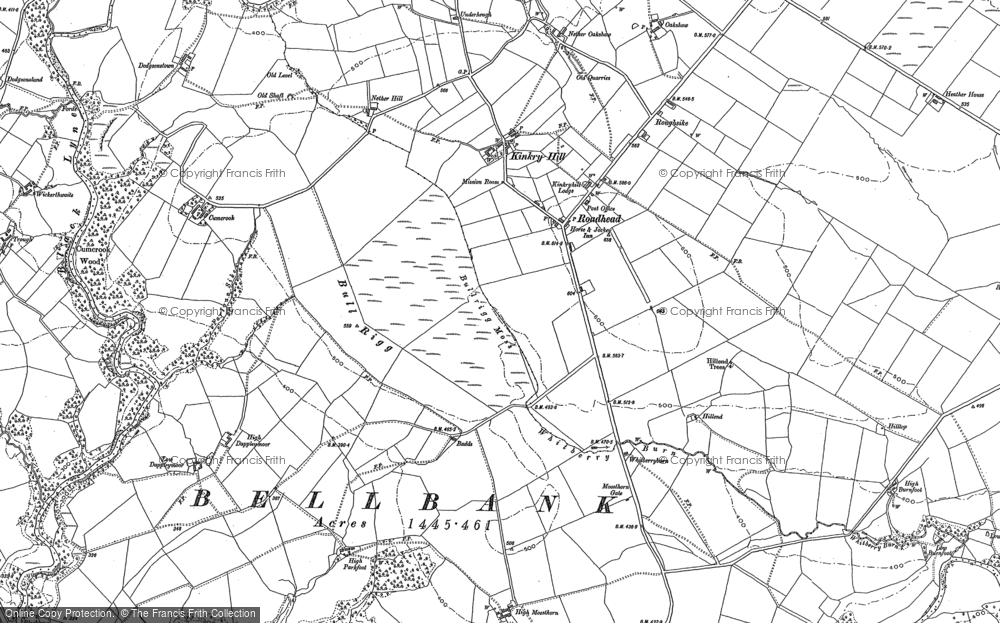 Old Map of Historic Map covering Arthurseat Ho in 1899
