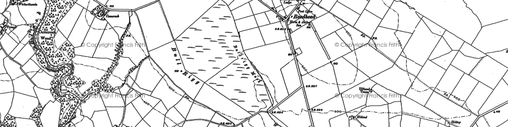 Old map of Ash, The in 1899