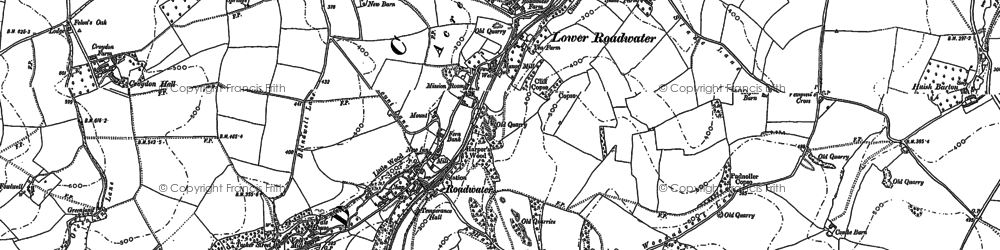 Old map of Roadwater in 1887