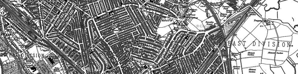 Old map of Roath in 1899
