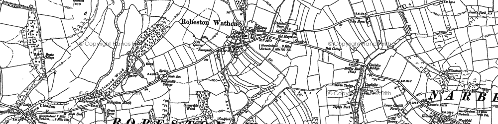 Old map of Abystree in 1887