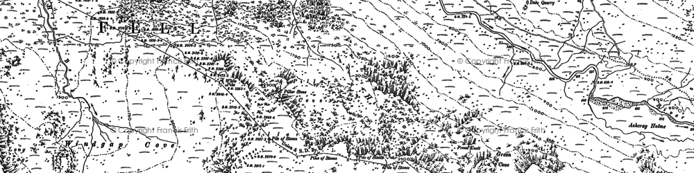 Old map of Lingmell in 1898