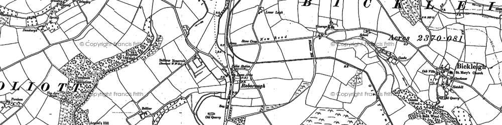 Old map of Bame Wood in 1884