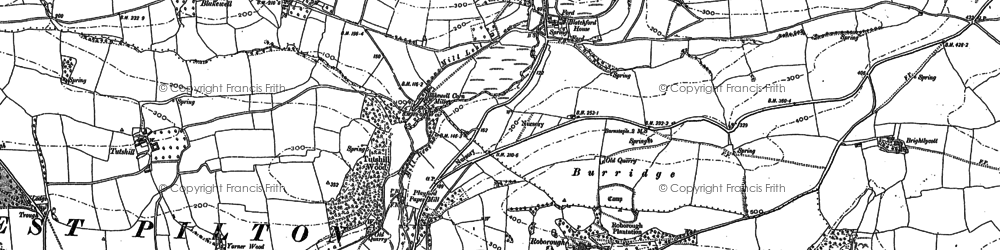 Old map of Westaway in 1885