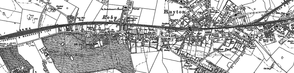 Old map of Roby in 1891