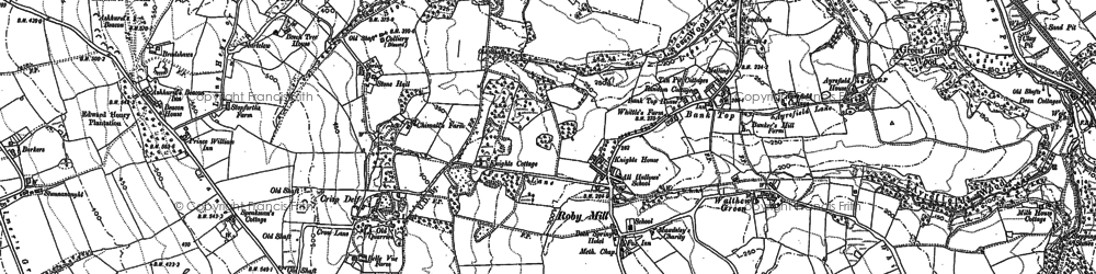 Old map of Bank Top in 1892