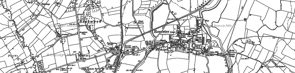 Old map of Abbotsholme School in 1899