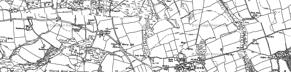 Old map of Barch in 1887