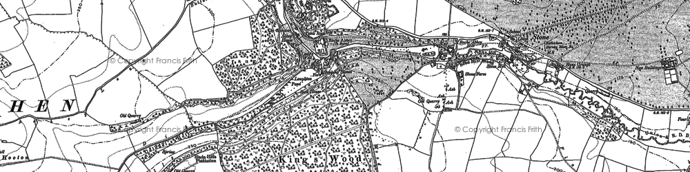 Old map of Wood Lee in 1890