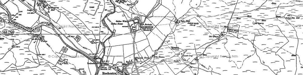 Old map of Bagraw in 1896