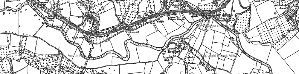 Old map of Rochford in 1902