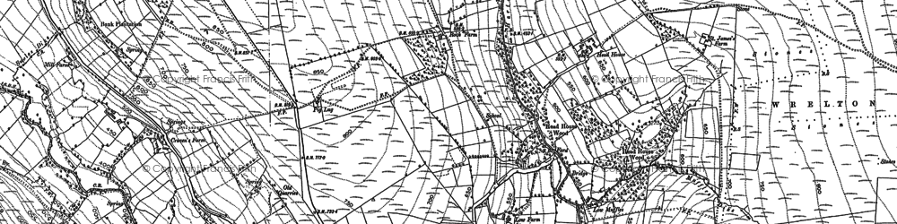Old map of Abraham's Hut (Cairn) in 1891