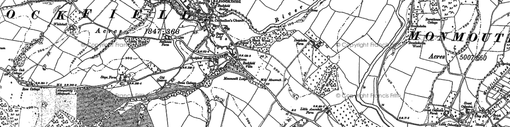 Old map of Amberley Court in 1900