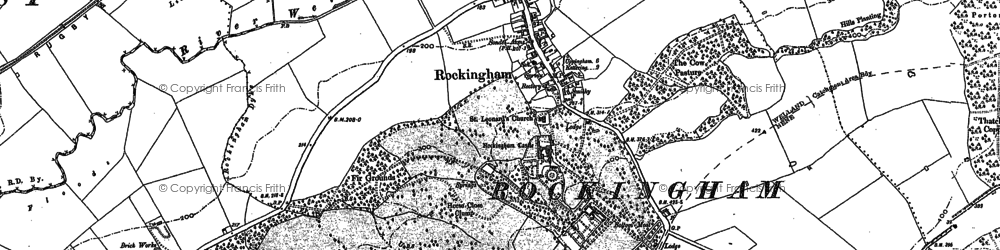 Old map of Rockingham in 1899