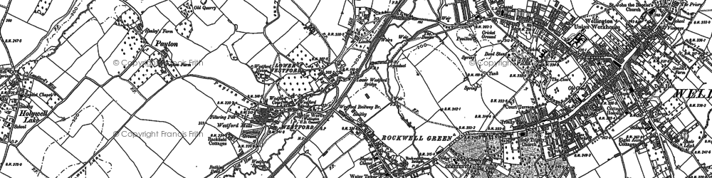 Old map of Rockwell Green in 1903