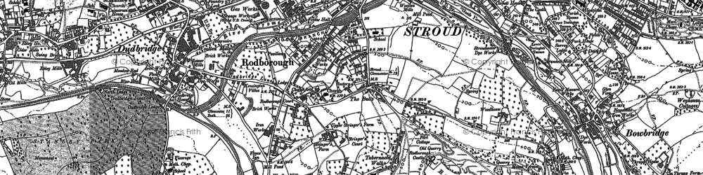 Old map of Rodborough in 1882