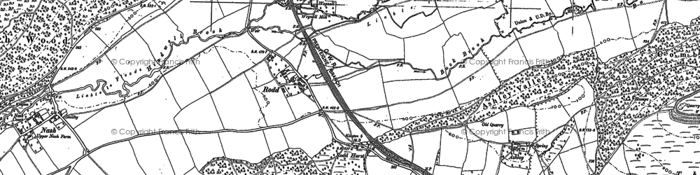Old map of Ashley in 1885
