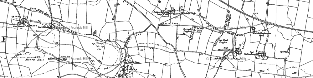 Old map of Wyke Wood in 1901