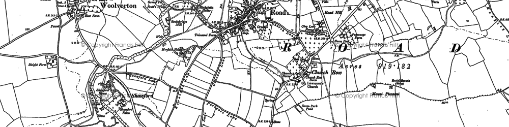 Old map of Rode in 1922