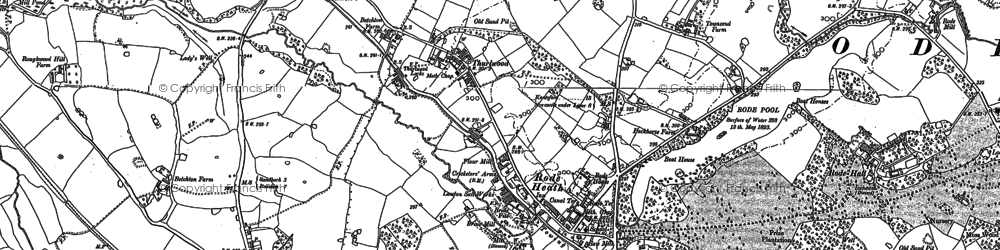 Old map of Lawton Heath in 1897