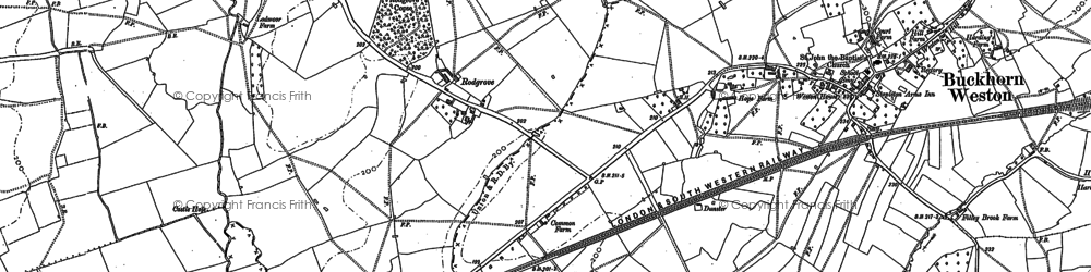 Old map of Abbey Ford Br in 1885