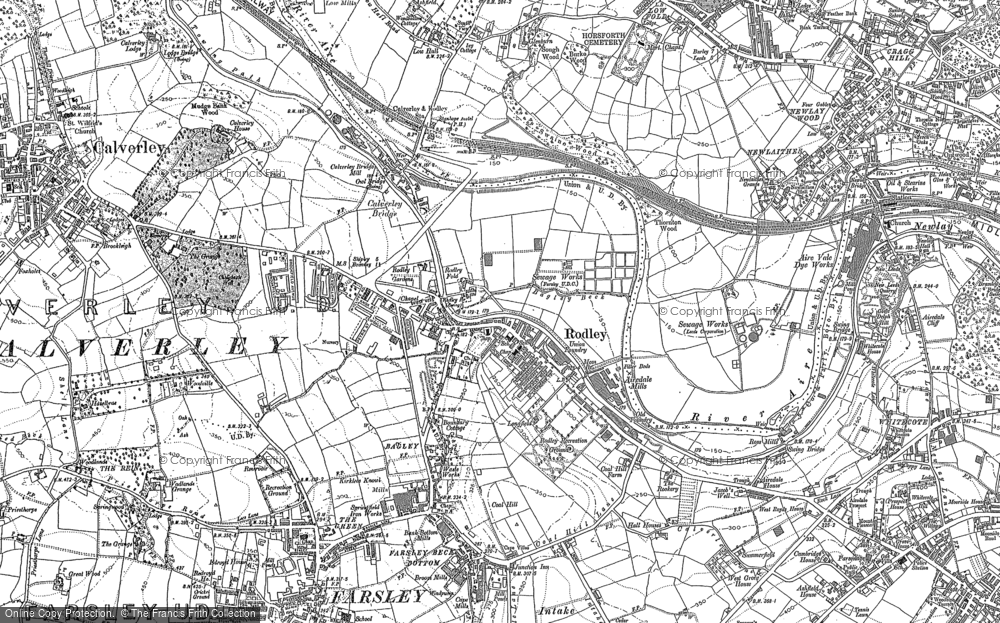 Old Map of Historic Map covering Bagley in 1847