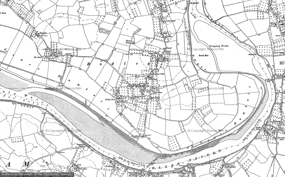 Old Map of Historic Map covering River Severn in 1879