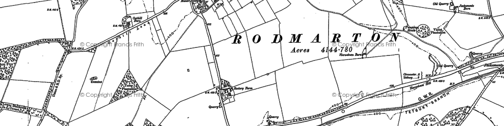 Old map of Windmill Tump (Long Barrow) in 1901