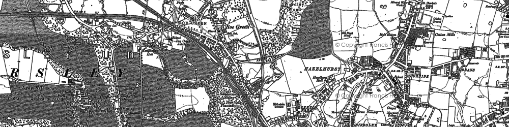 Old map of Redhill in 1896