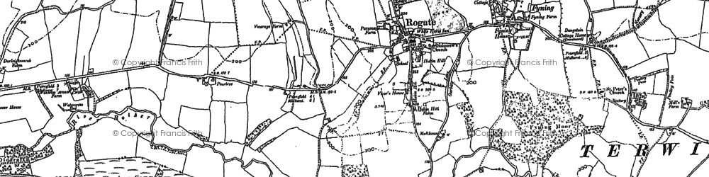 Old map of Rogate in 1896
