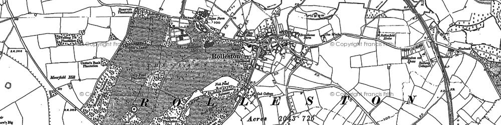 Old map of Alder Moor in 1885